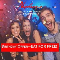 Birthday Offer - EAT FOR FREE!