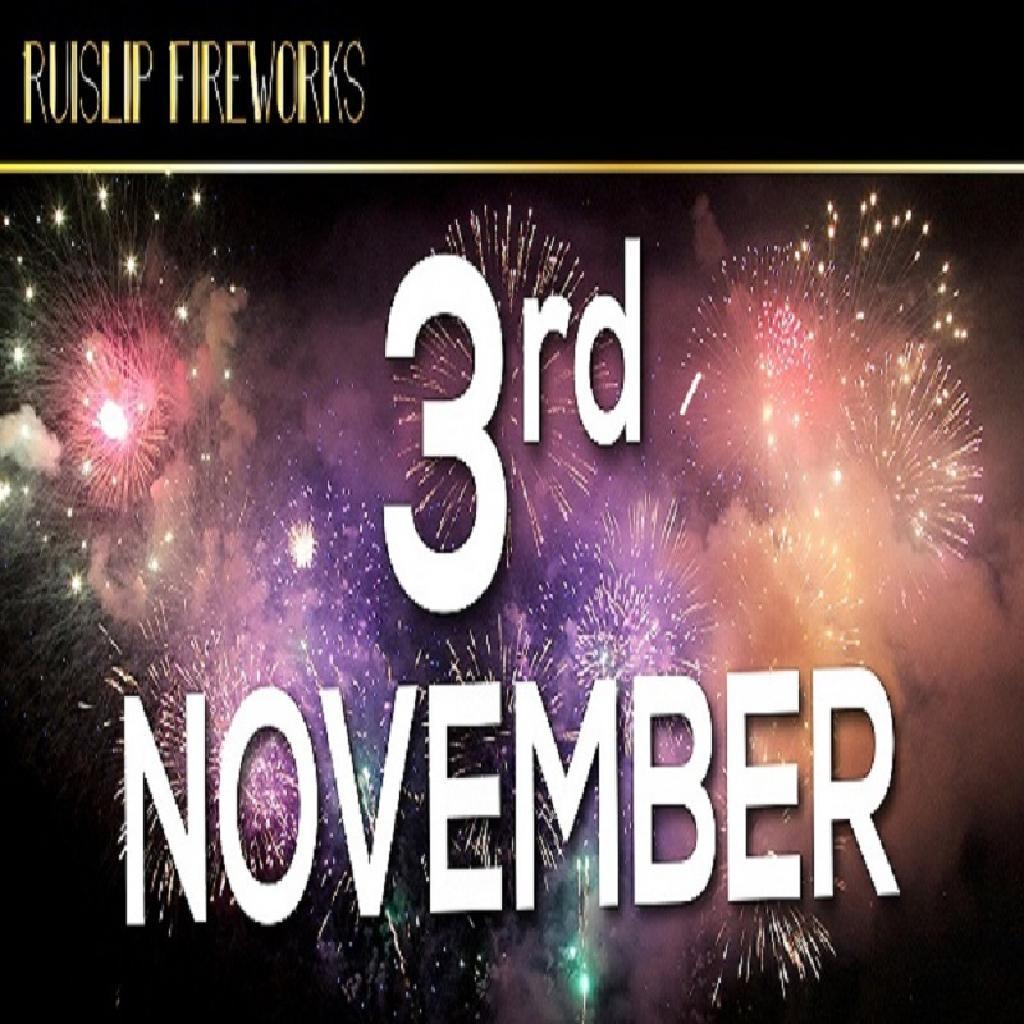 Ruislip Fireworks Display, Saturday 3rd November 2018