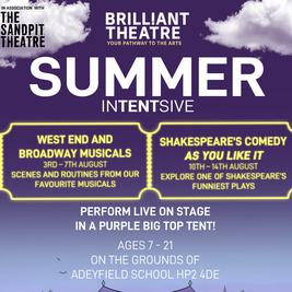Brilliant Theatre Arts Summer inTENTsive