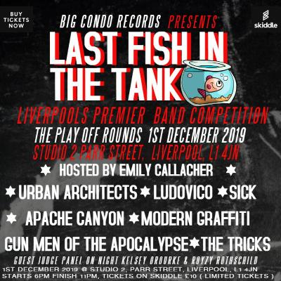 Last Fish In The Tank play offs 1st December