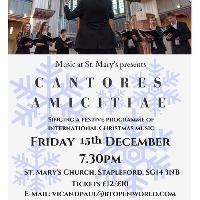 Cantores Amicitae Christmas concert