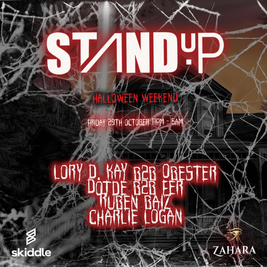 StandUP - Halloween weekend at Zahara