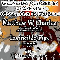 Matthew W Charles & Invincible Pigs & June Apples at Cafe Kino