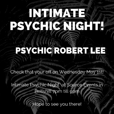 Intimate' Psychic Night hosted by Psychic Robert Lee