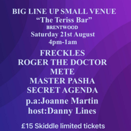 BIG LINE UP SMALL VENUE presents The Teriss Bar