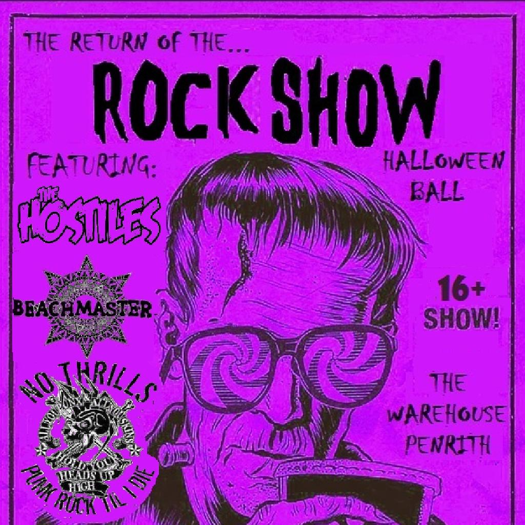 the return of the rock show: halloween ball tickets | the warehouse