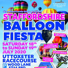 Staffordshire Balloon Fiesta 2021 Tickets | Uttoxeter Racecourse Uttoxeter  | Sat 17th July 2021 Lineup