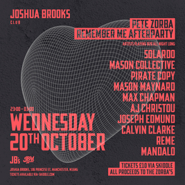 Peter Zorba: Remember Me | Afterparty