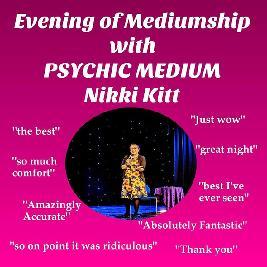 Evening of Mediumship with Nikki Kitt - Redruth