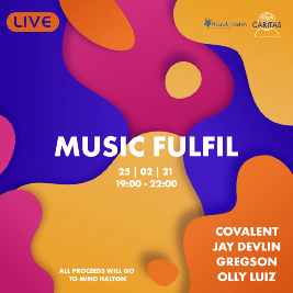 Caritas Events - Music Fulfil Tickets | Virtual Event Online  | Thu 25th February 2021 Lineup