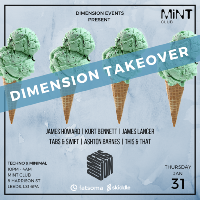 Dimension Takeover @ MiNT Club - 31.01.19