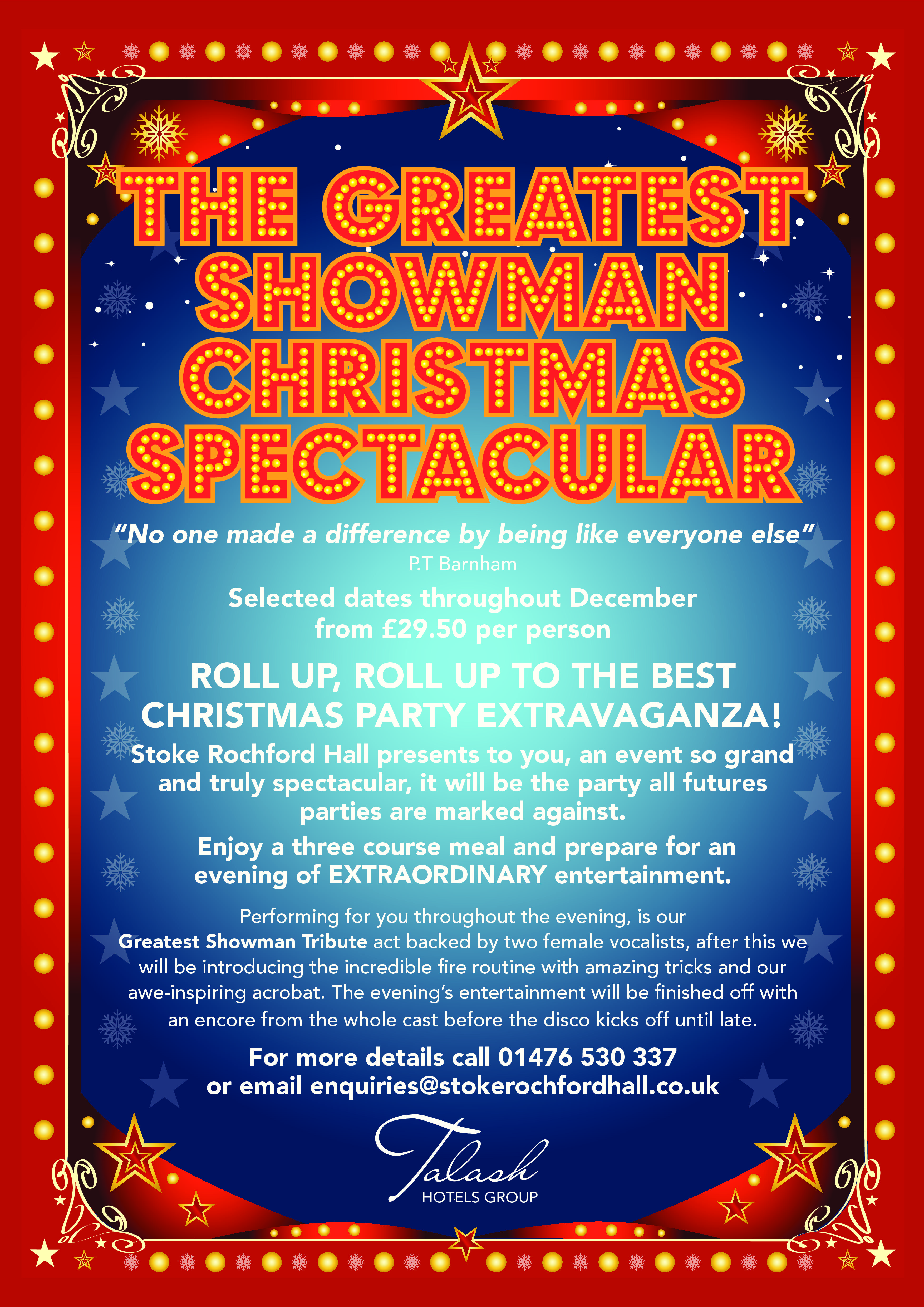 The Greatest Showman Christmas Spectacular 2018 Tickets | Stoke ...