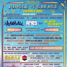 Jungle zen presents: jungle vs garage summer bbq