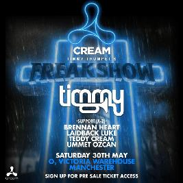 Timmy Trumpet's Freakshow Tickets | O2 Victoria Warehouse Manchester  | Sat 13th February 2021 Lineup