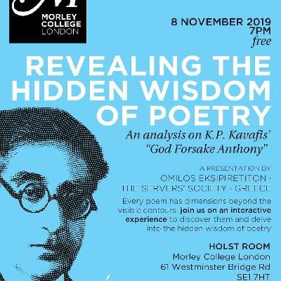 Revealing The Hidden Wisdom Of Poetry Tickets Morley