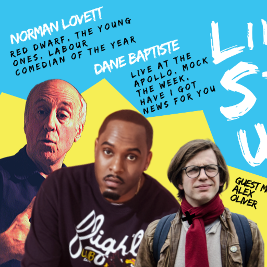 Live Stand up with Headliners Norman Lovett & Dane Baptiste Tickets | Commemoration Hall Huntingdon  | Sat 30th November 2019 Lineup