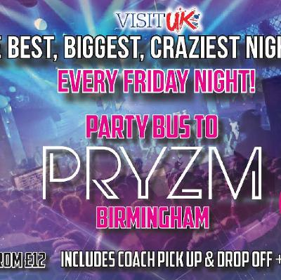 Party Bus to Broad street & Arcadian Birmingham