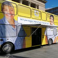 Marie Curie support bus comes to Leeds