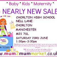 mum2mum market Manchester Nearly New Sale