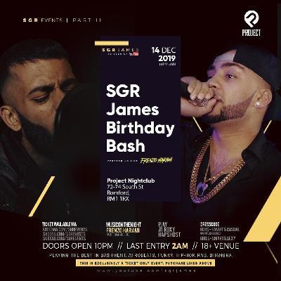SGRevents - SGRJames Birthday Bash 2019