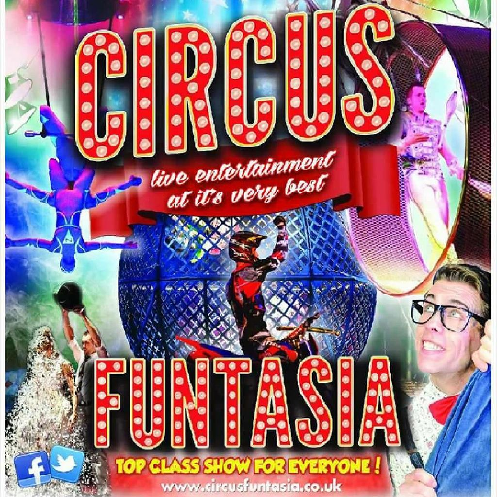 Circus Funtasia Tickets Falmouth Rugby Club Falmouth Sun 14th August 2016 Lineup