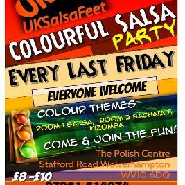 Colourful Salsa 2 Room Party | The Polish Club Wolverhampton  | Fri 29th January 2021 Lineup