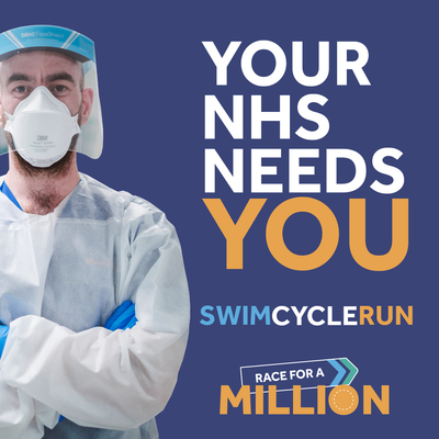 Your NHS needs you. Complete this Triathlon in the month of May and help  raise £1m for University Hospital Southampton General Intensive Care Unit.