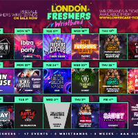 The Official London Freshers Wristband 2019
