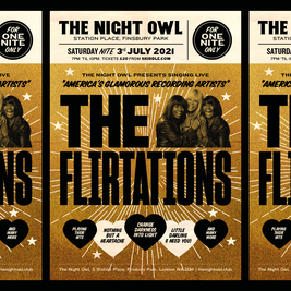 The Flirtations - Seated + socially distanced (limited capacity)