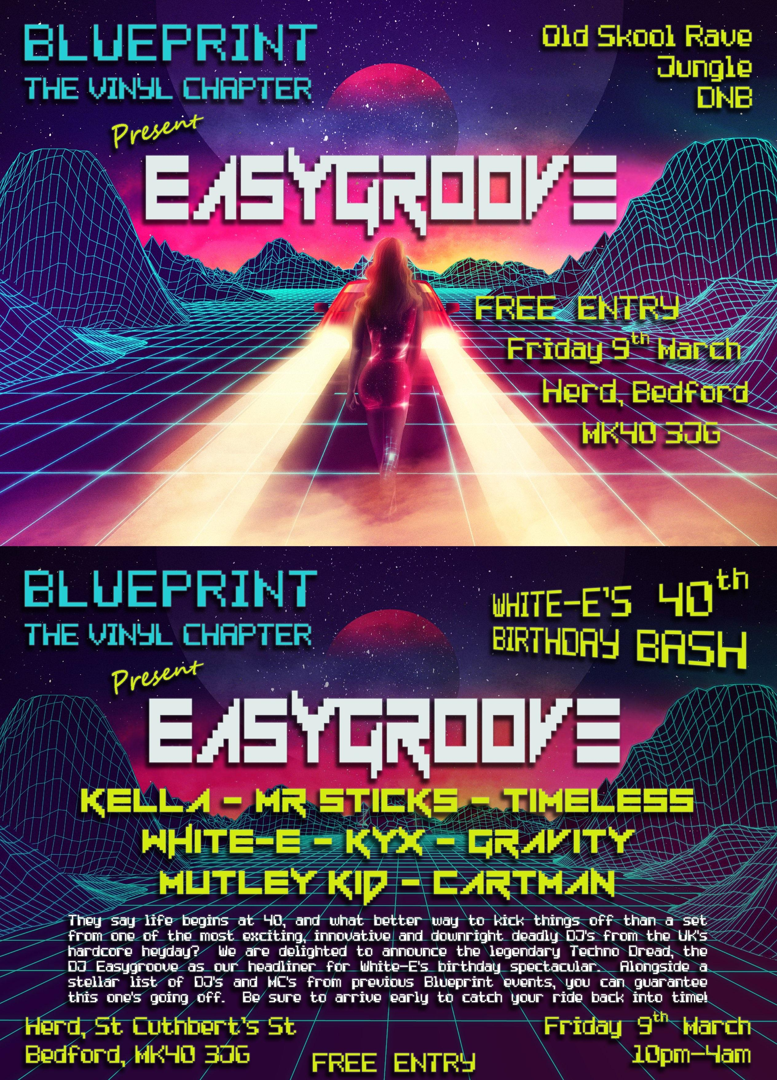 Blueprint present easygroove tickets herd bedford fri 9th event flyer malvernweather Images