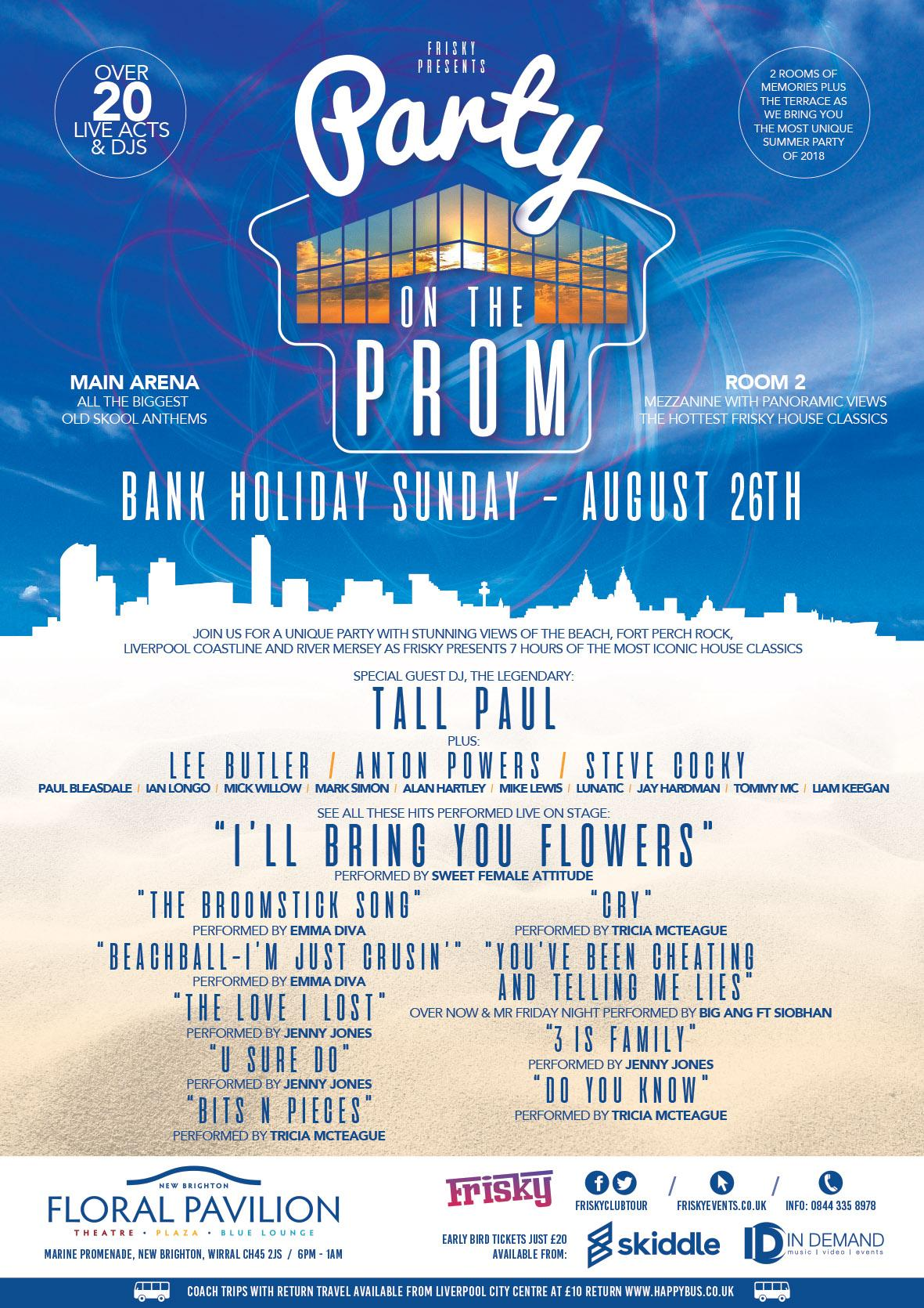 Image result for party on the prom wirral 26th august 2018