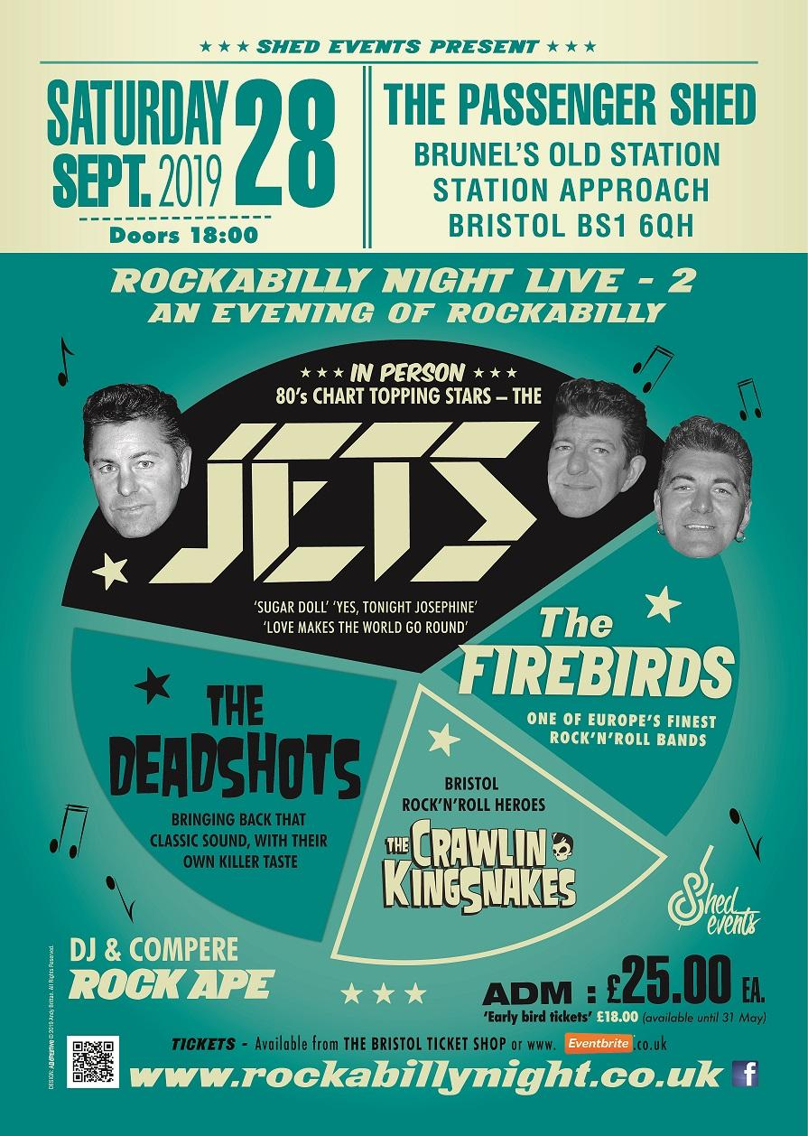 Rockabilly Night LIVE 2: The Jets plus Special Guests at The Passenger Shed