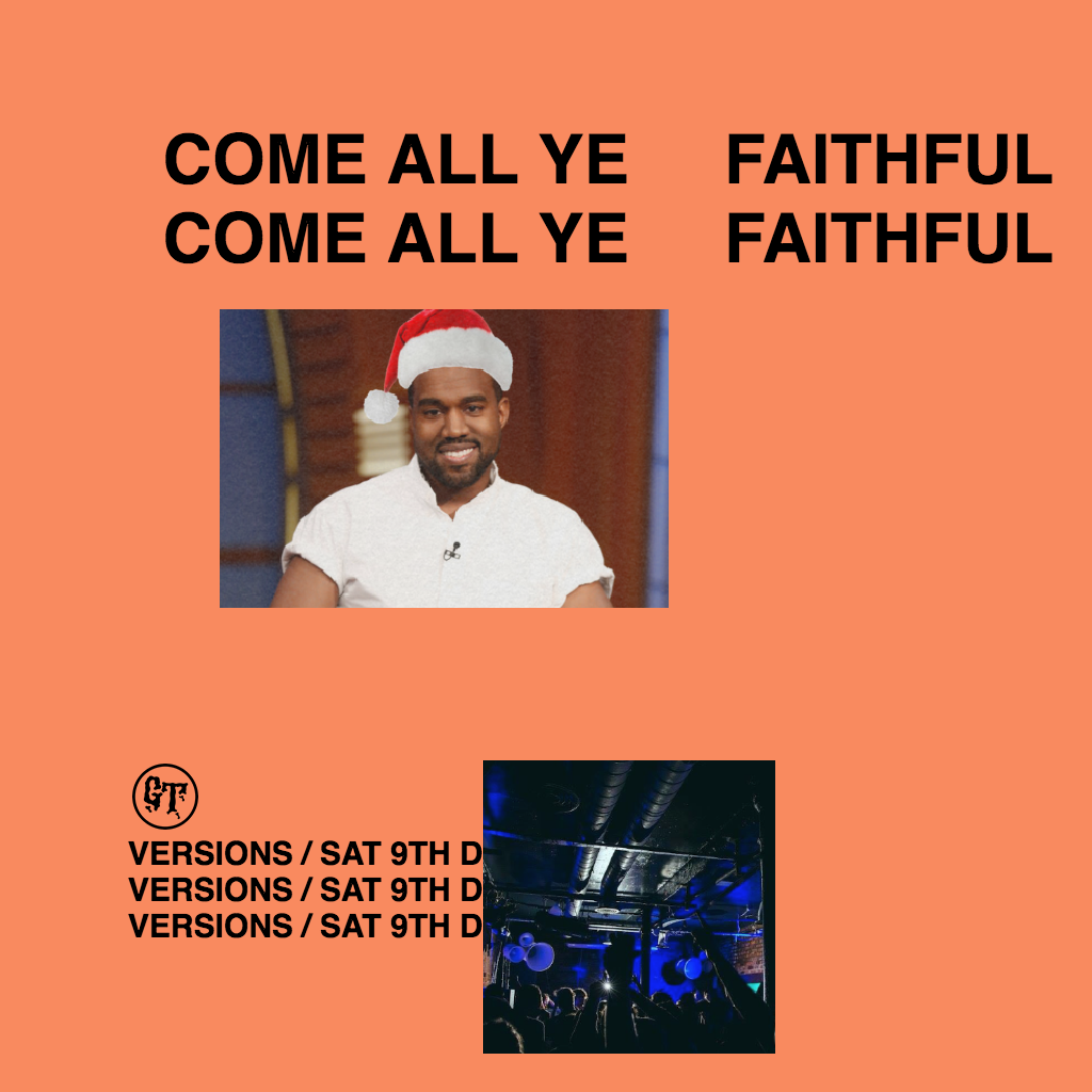 Come All Ye Faithful: A Kanye Christmas Party Tickets | Joshua ...