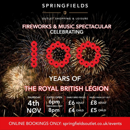 The Springfields Fireworks and Music Spectacular: 4th Nov 2021
