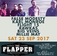 False Modesty /  Karl Monroe / Flight 15 / Rawkas / Big Veins