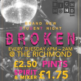 BROKEN | The Richmond  Brighton  | Tue 8th December 2020 Lineup