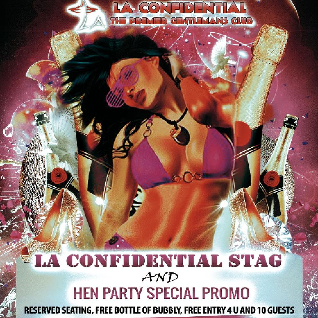 LA Confidential Birthday and Stag / Hen promotion / 10x £1.00 tickets
