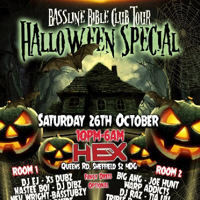Bassline Bible Club tour Halloween special 26th of October