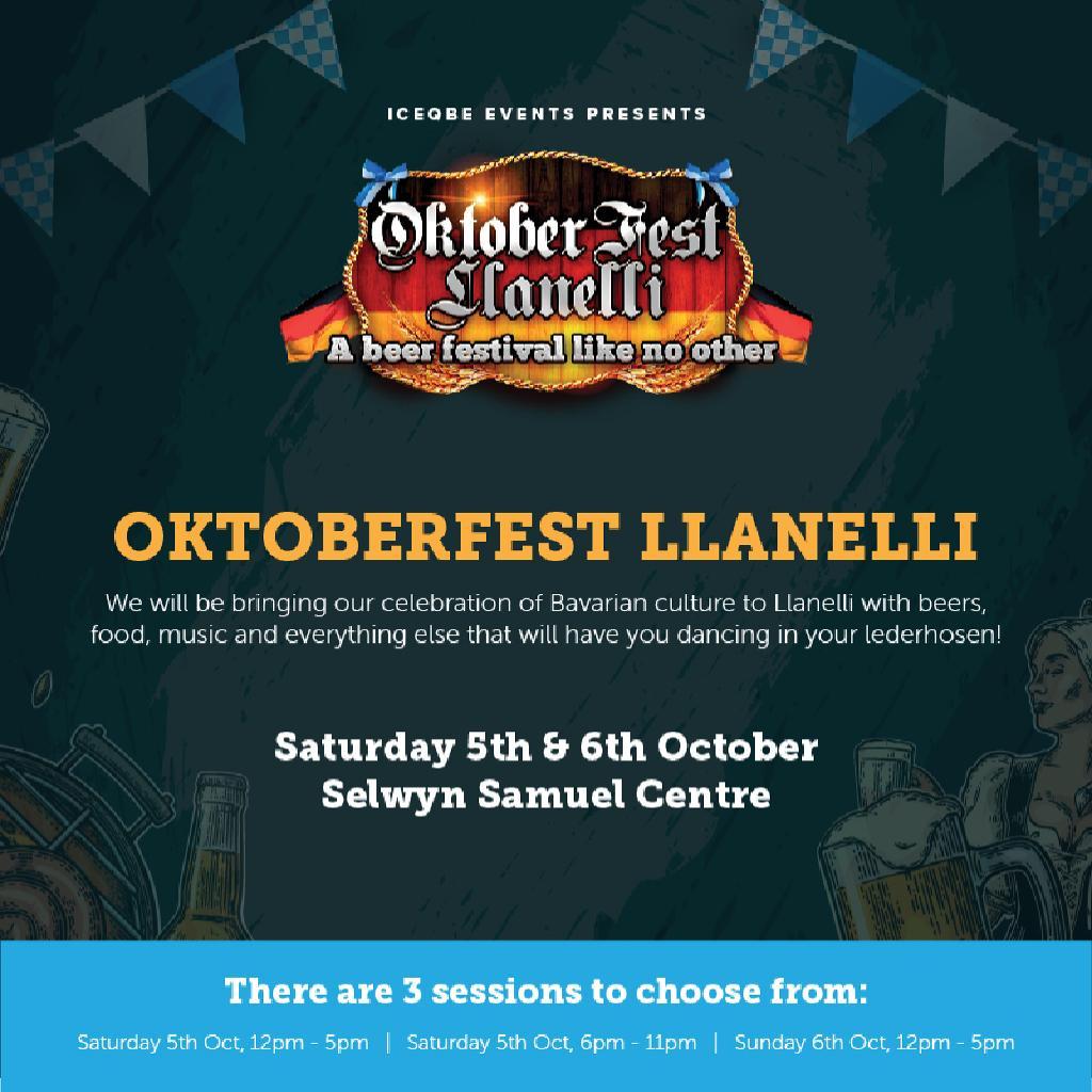Oktoberfest Llanelli | Selwyn Samuel Centre Llanelli | Sat 5th
