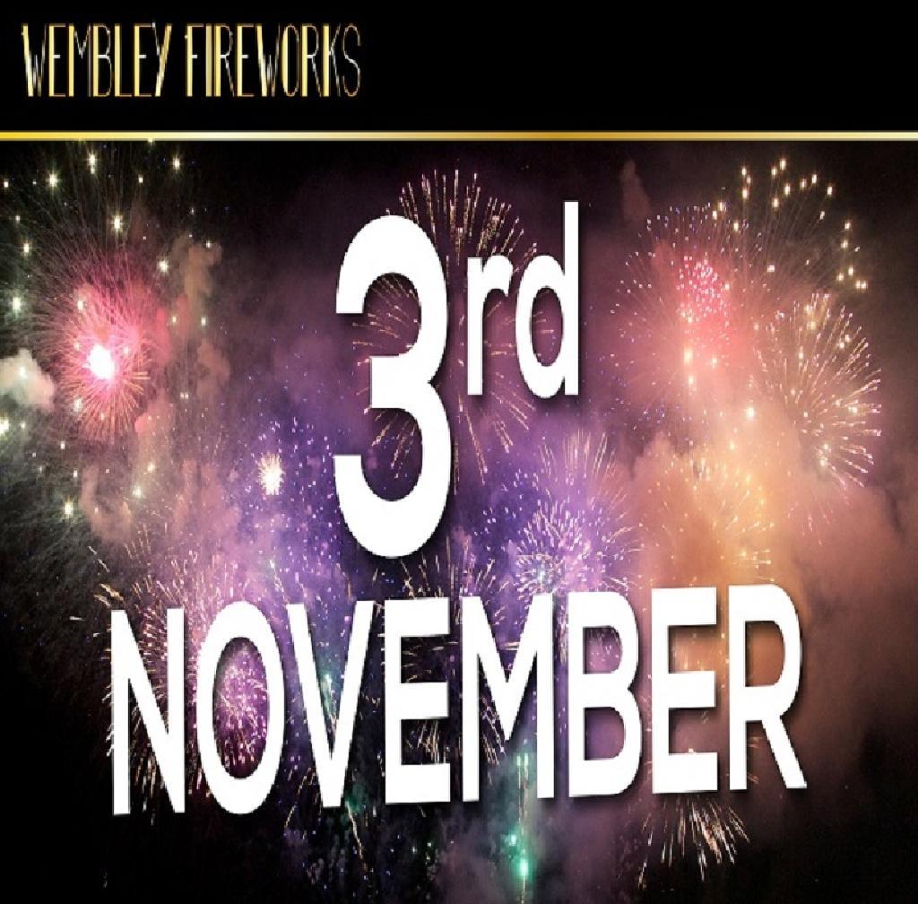 Wembley  Fireworks Display, Saturday 3rd November 2018