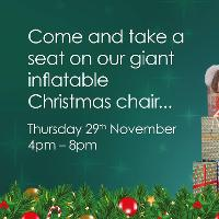 Take a seat in Castle Quay's GIANT Santa Chair!