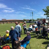 Sir Patrick Moore celebrity cricket match and family day