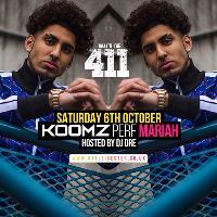 Koomz Perf Mariah - Sat 6th Oct - Tickets On Sale Now!