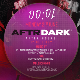 AFTR DARK - Jaloux welcome back party