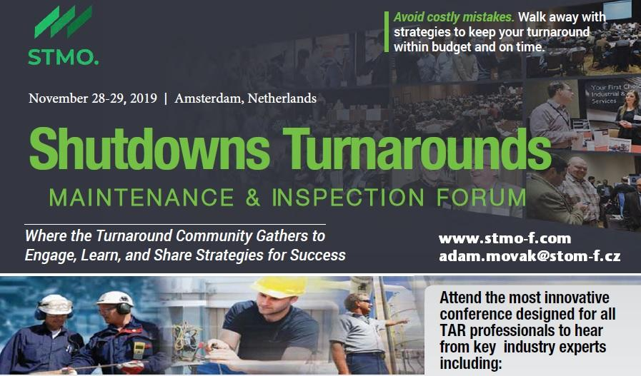 The Shutdown, Turnaround and Outage Forum 28-29 November 2019 at Amsterdam