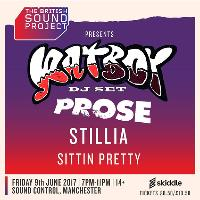 British Sound Project with Rat Boy (DJ), Prose, Stillia