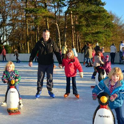 Get your skates on to slip and glide on Chigwell's magical outdoor ice rink set in beautiful surroundings.