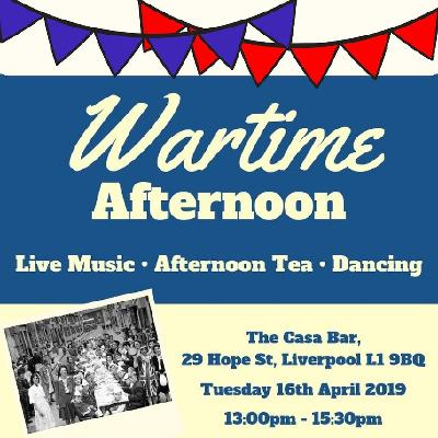 Join us for a wartime-themed afternoon of live music, dancing and delicious afternoon tea.
