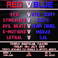 Hardstyle Fridays Presents Red v Blue