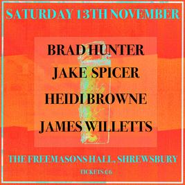 Brad Hunter + Special Guests at The Freemasons Hall, Shrewsbury